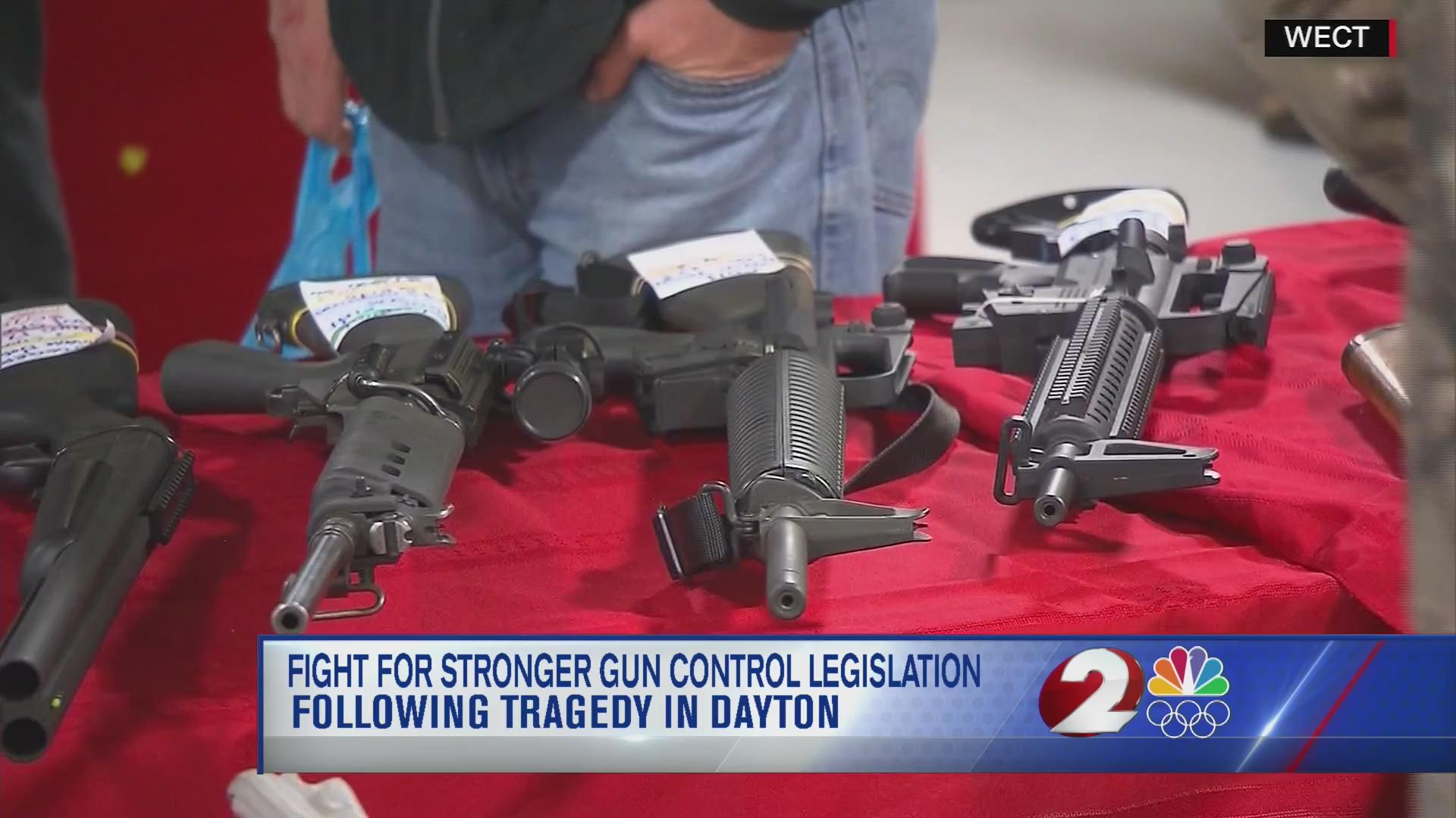 Fight for stronger gun control legislation following tragedy in Dayton