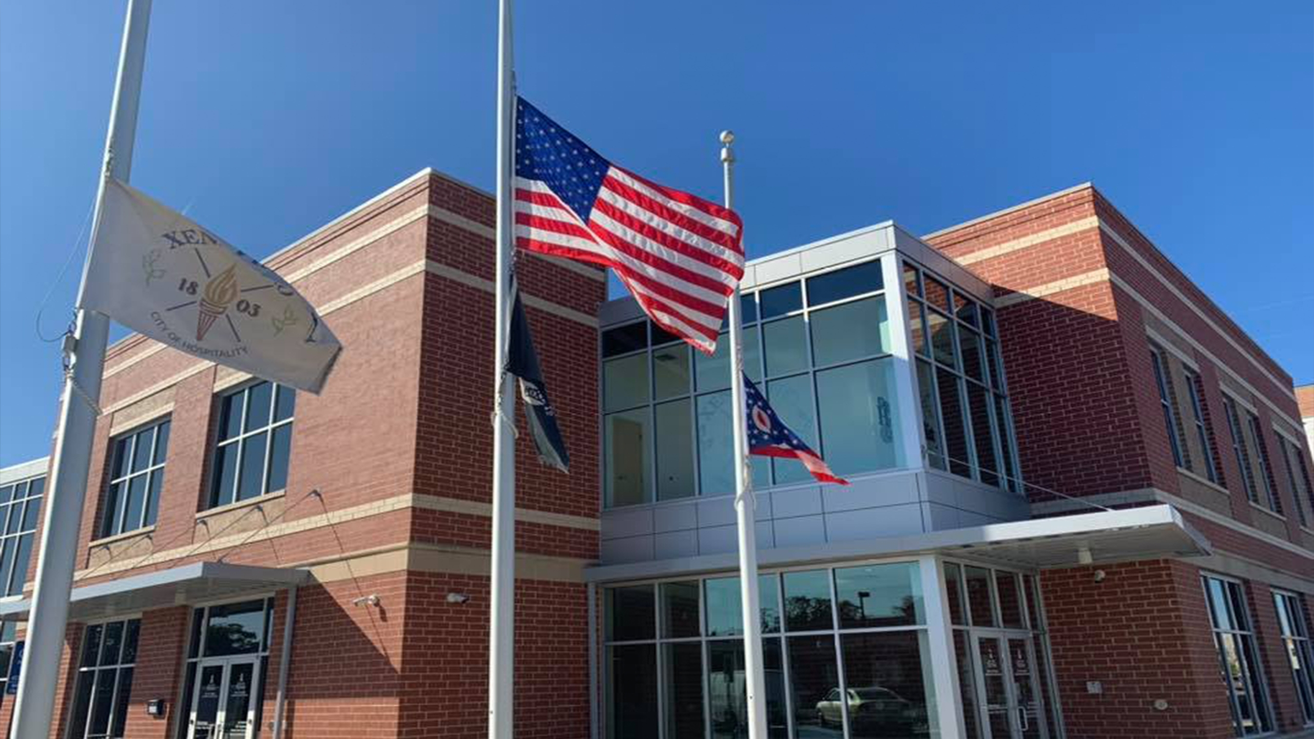 Flags half-staff Xenia