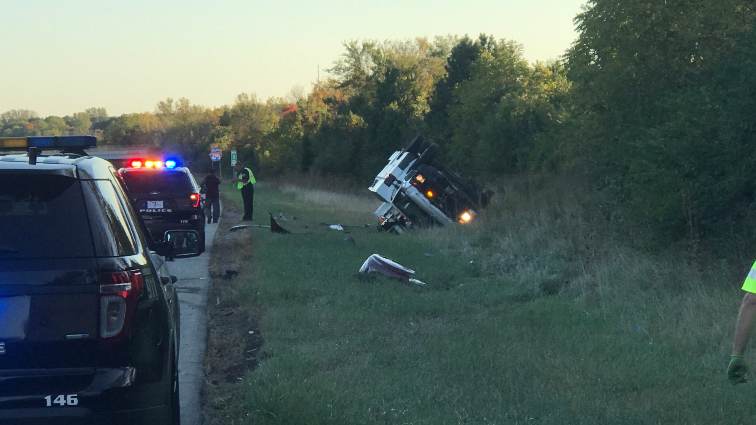 I-675 crash at Indian Ripple Rd.