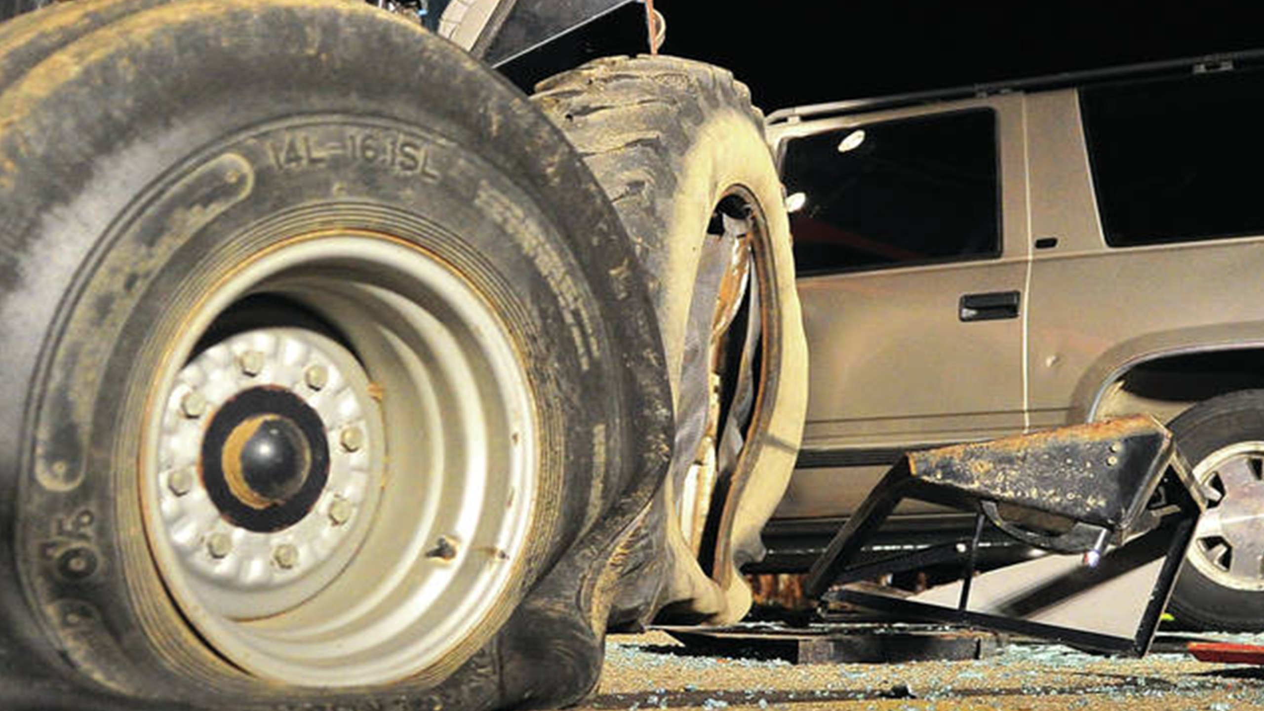 Tractor, SUV crash