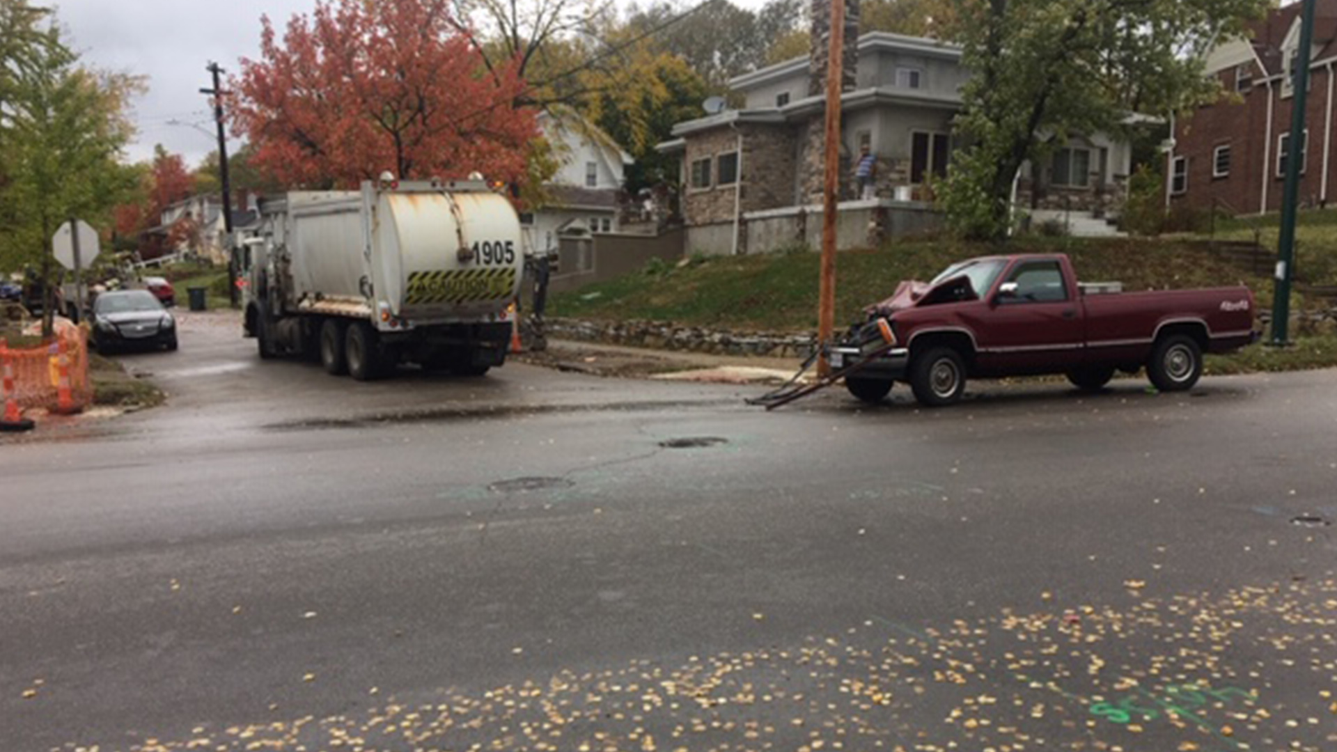 Truck v Trash Truck
