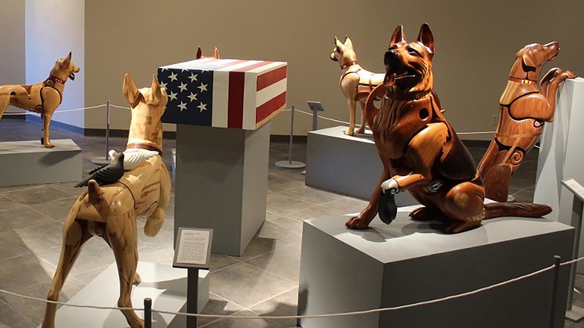 Wounded Warrior Dog exhibit