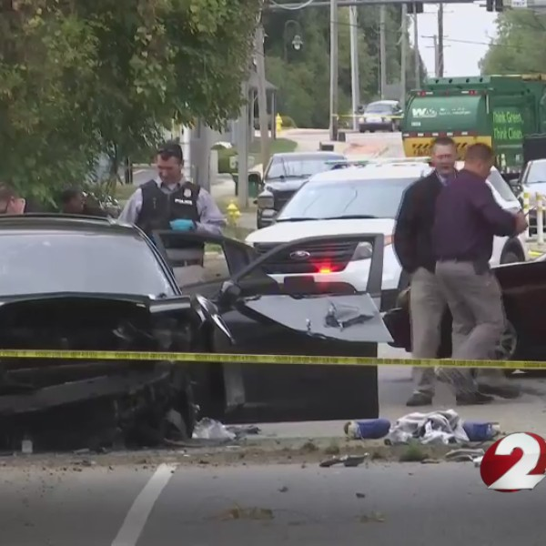 Wrong-way chase ends in crash