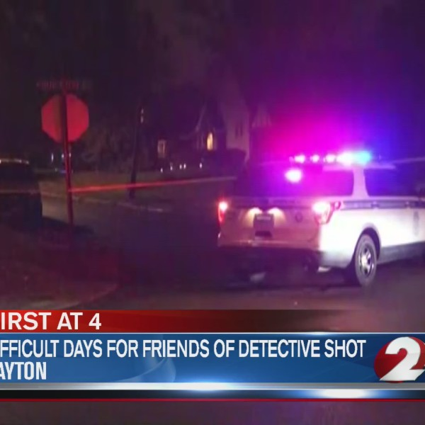 Difficult days for friends of detective shot
