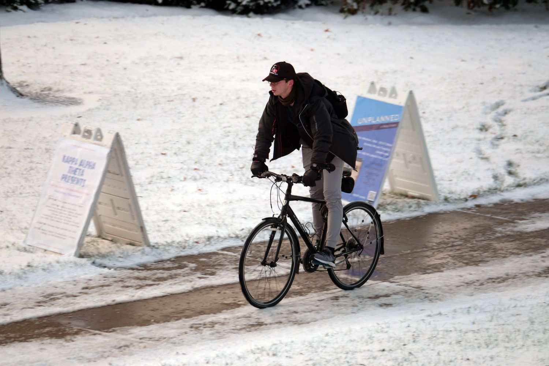 Snow at Miami University in Oxford