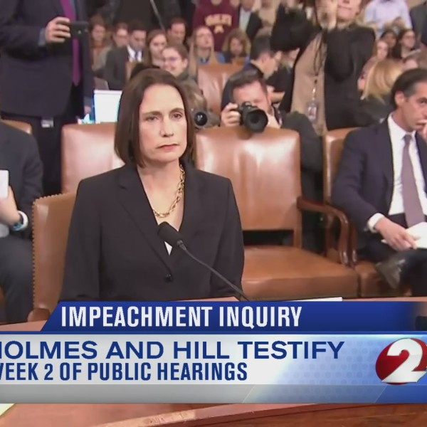 Holmes and Hill testify in public impeachment hearings