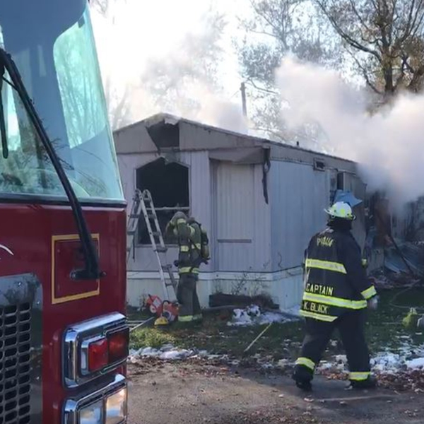 Piqua trailer fire