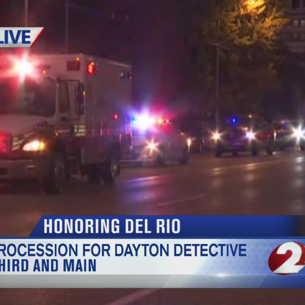 Procession for Dayton detective