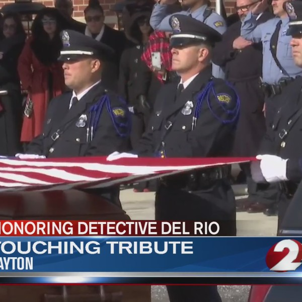 Touching tribute for Det. Del Rio