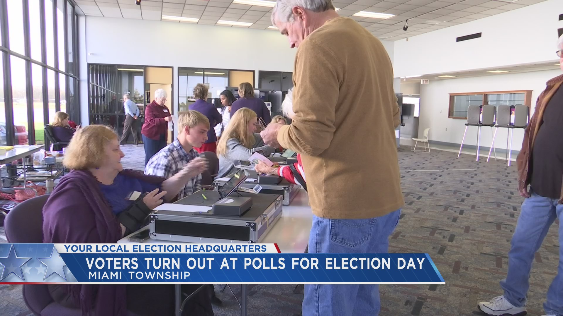 Voters turn out at polls for Election Day