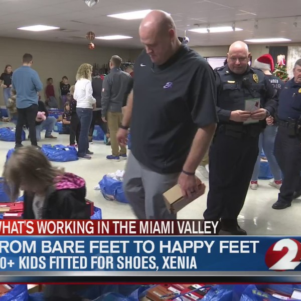 100 kids fitted for shoes