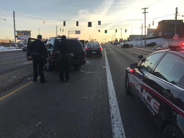 Miamisburg Police cruiser hit