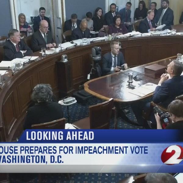 House prepares for historic impeachment vote