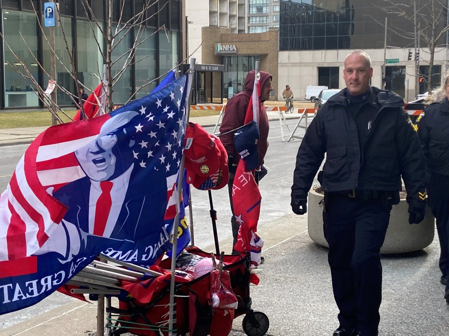 1-9 Outside Trump rally
