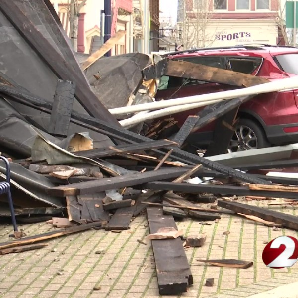 Troy tornado debris