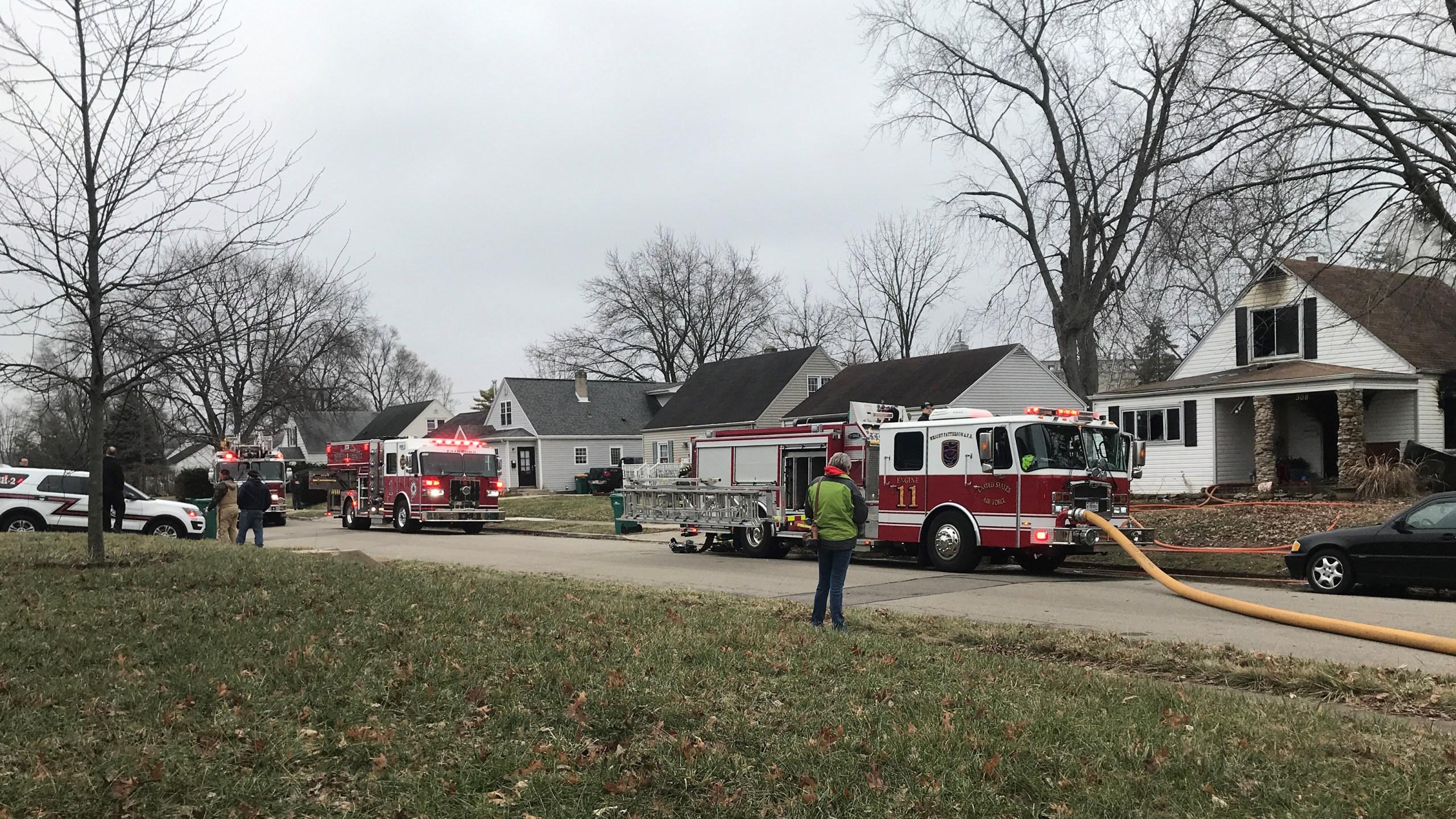 Fairborn house fire