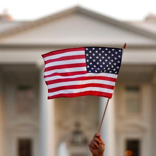Flag outside White House