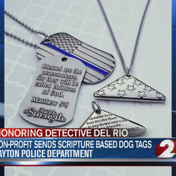 Nonprofit sends inscribed dog tags to Dayton Police