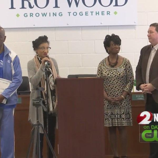 Shiloh Springs Care Center presents check for tornado relief fund