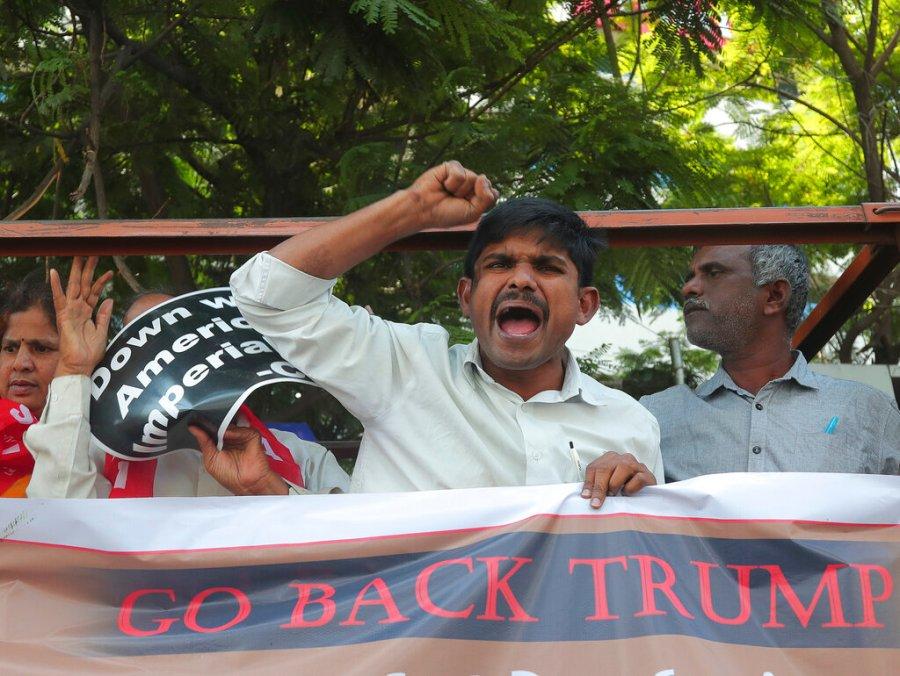 India Trump Protest