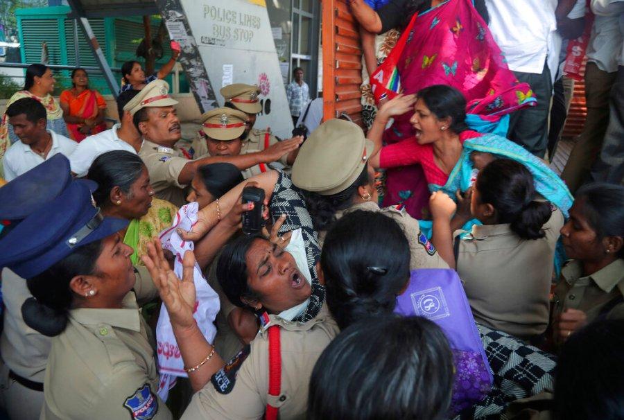 APTOPIX India Trump Protest