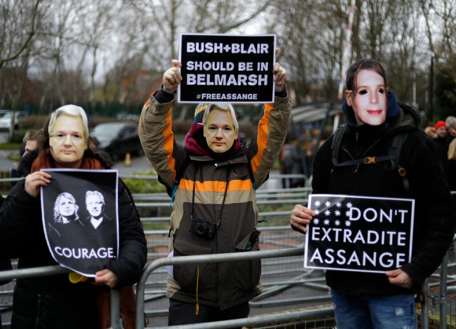 Britain Assange Protest