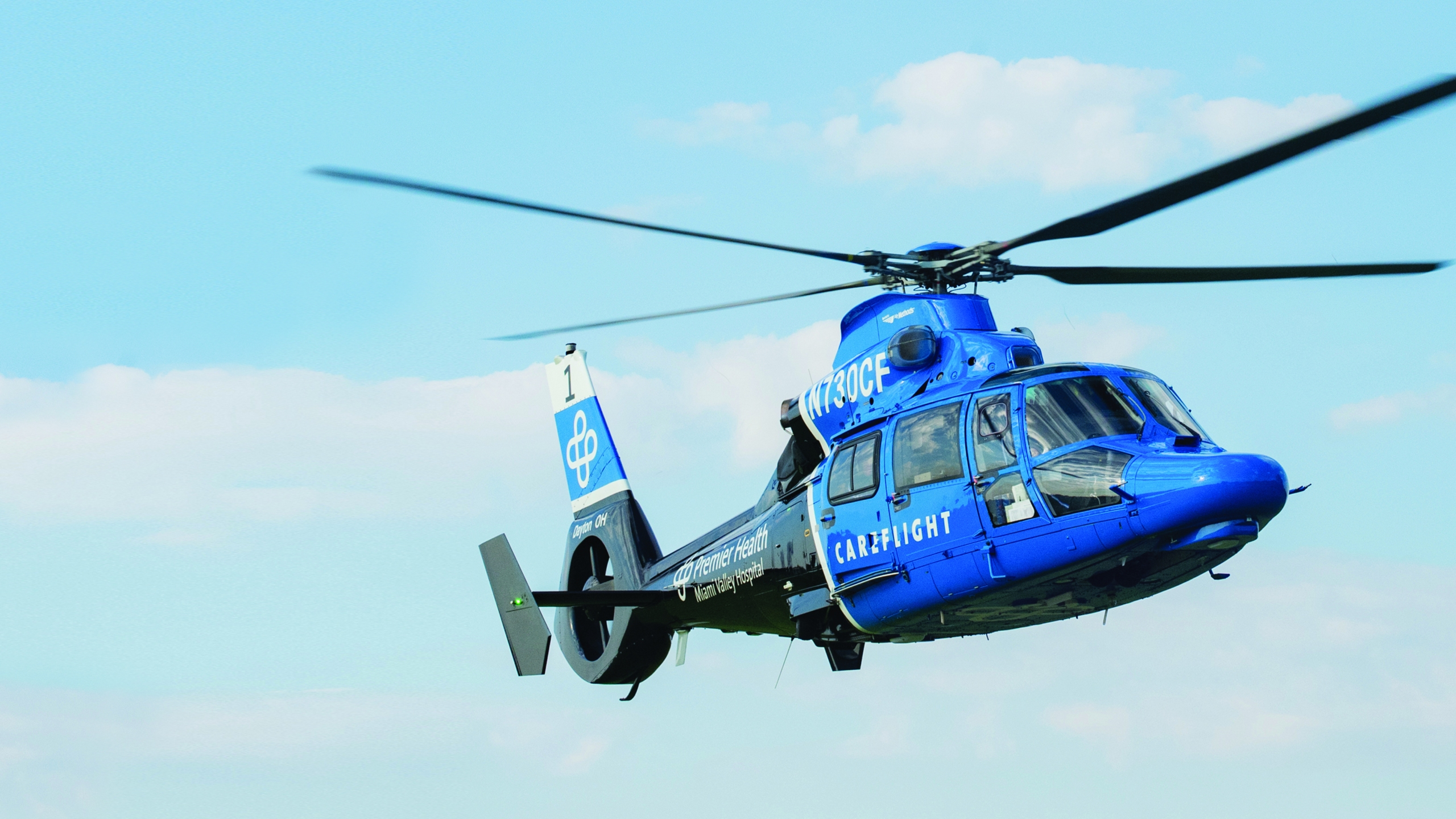 CareFlight Helicopter in flight