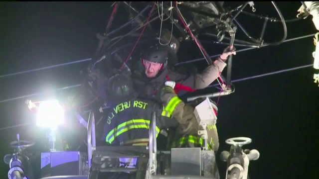 Trapped paraglider rescued from power lines near California airport