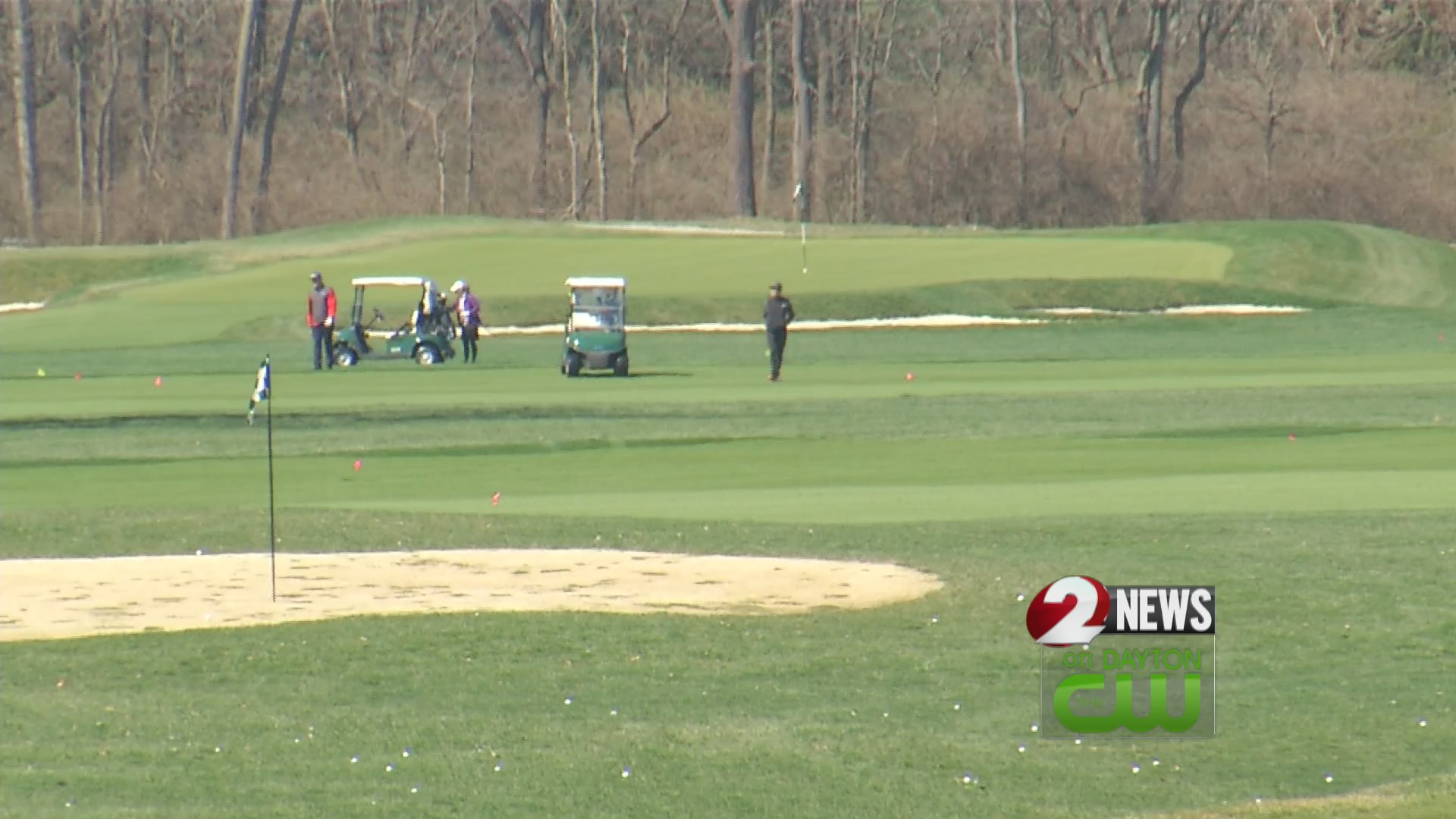 Some golf courses remain open