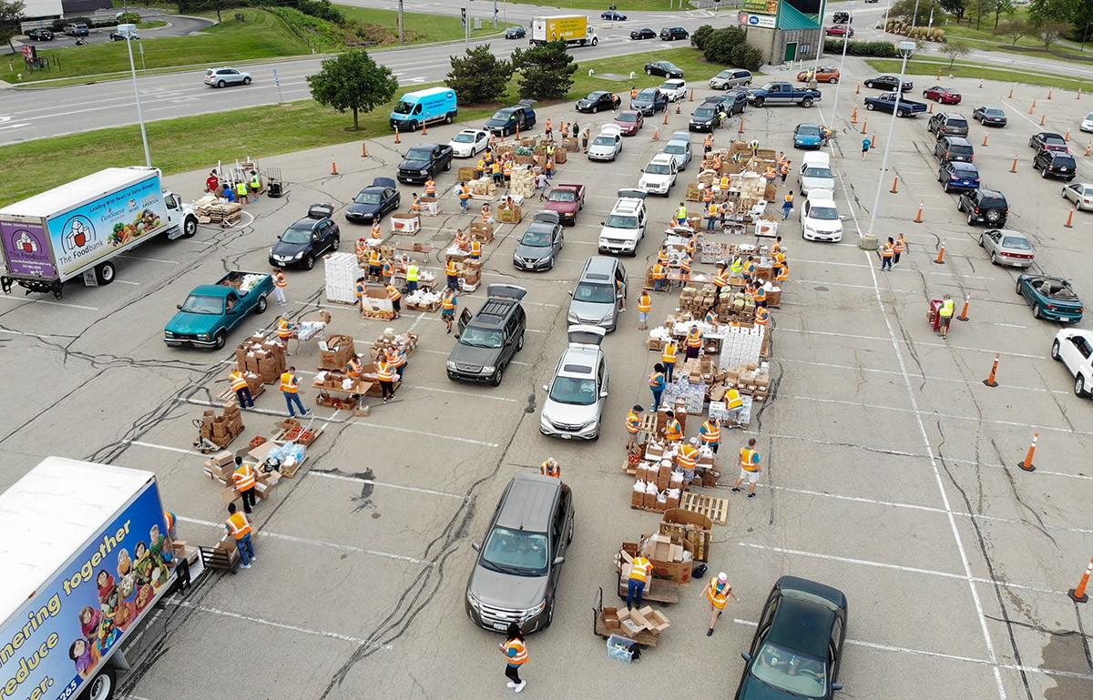 WSU Foodbank distribution