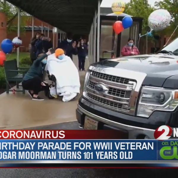 Birthday parade for WWII veteran