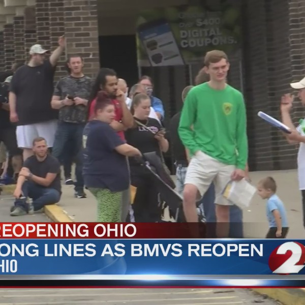 Long lines as BMVs reopen