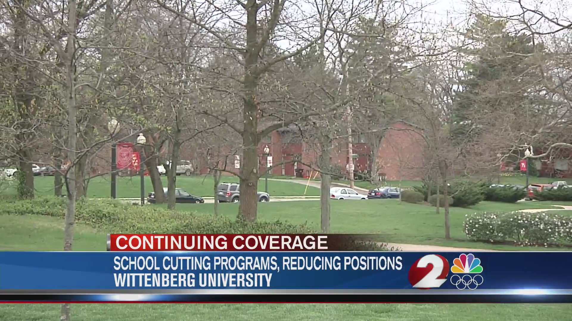 Wittenberg University cutting programs, reducing positions