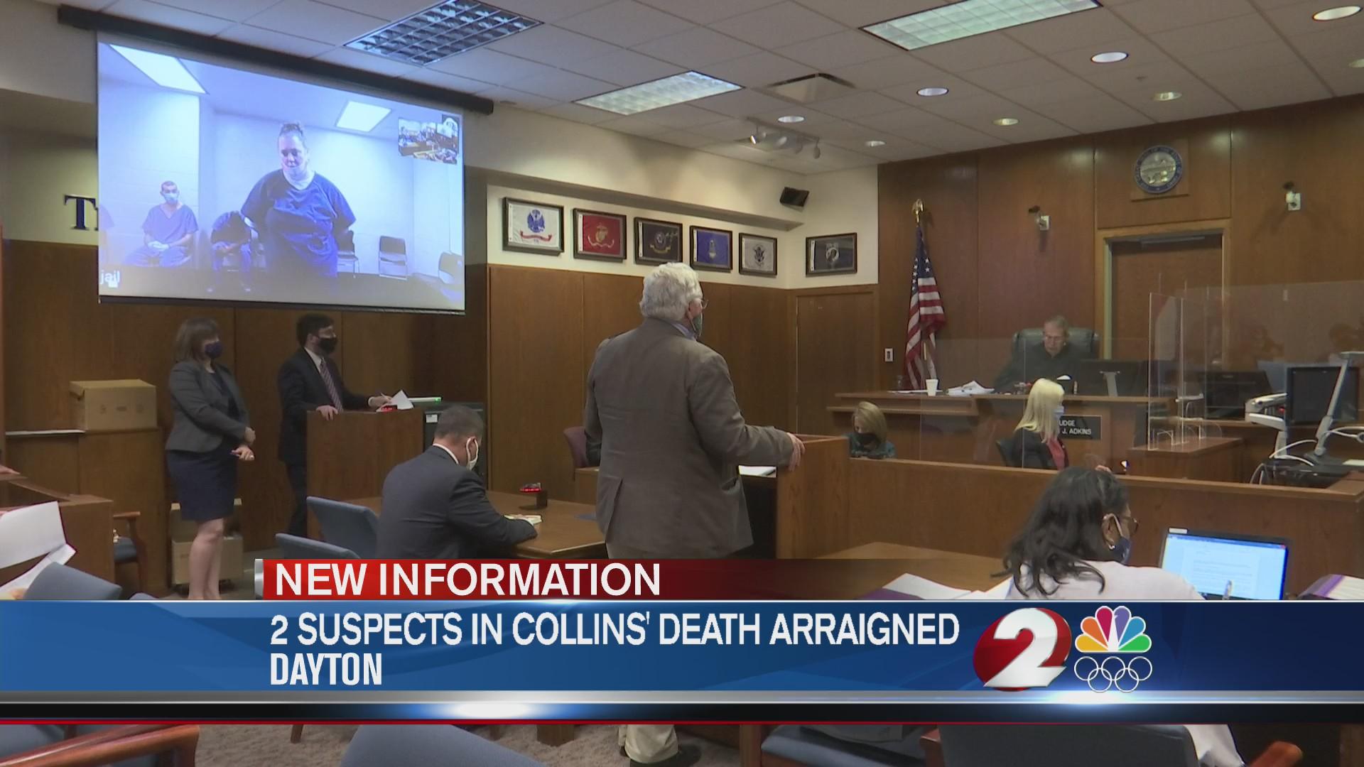 2 suspects Collins death arraigned