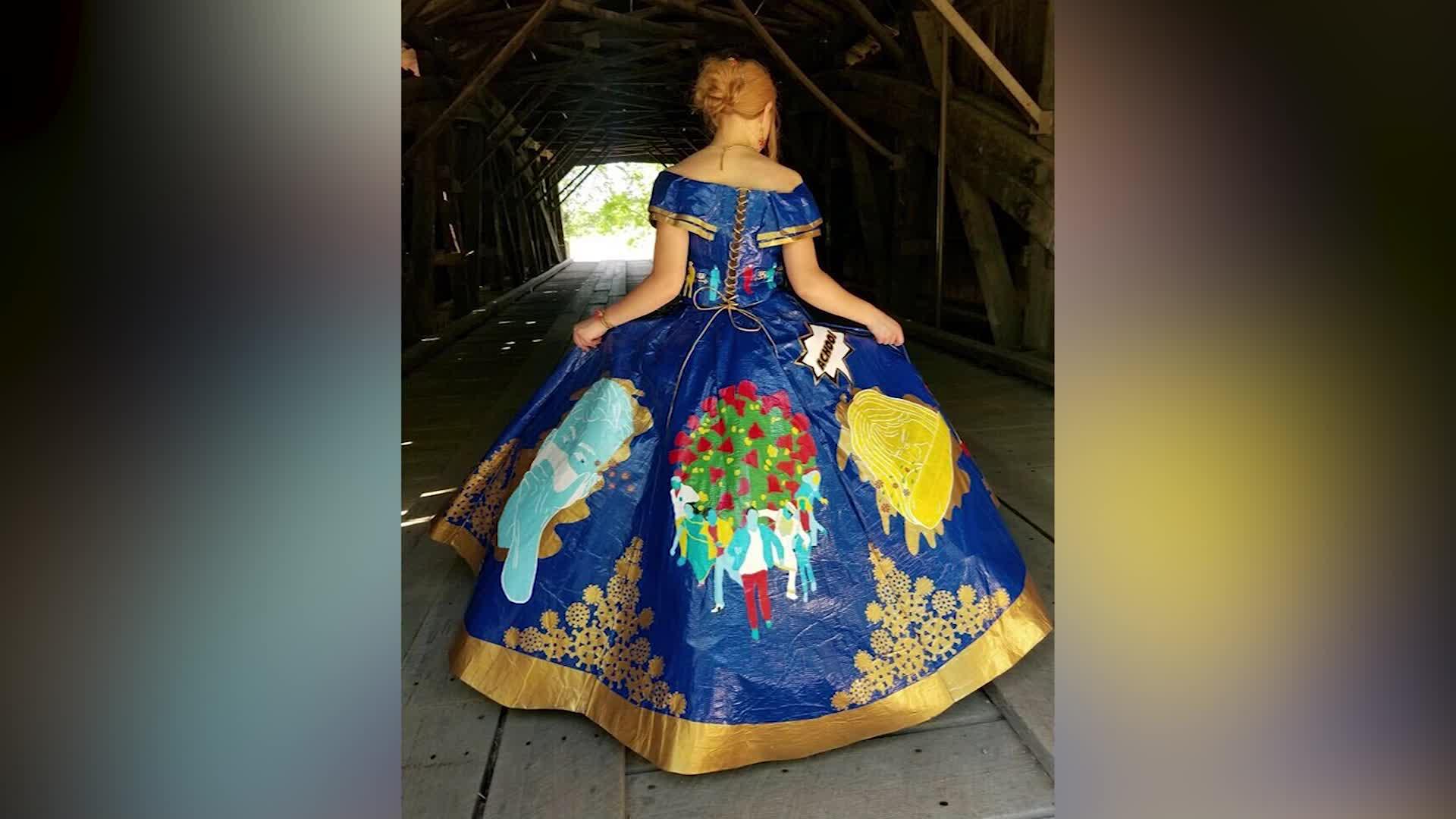 Coronavirus prom dress