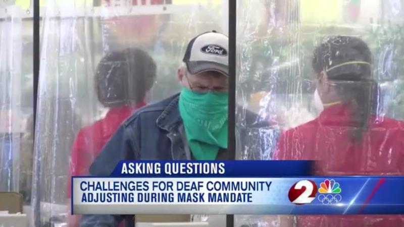 Deaf community masks