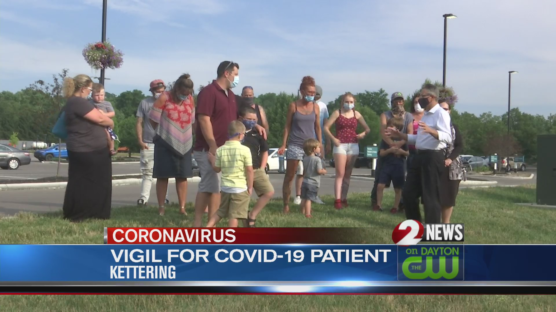 Vigil held for COVID-19 patient