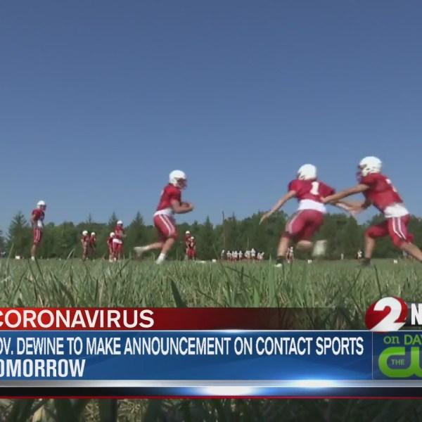 Football practice at Tippecanoe High School