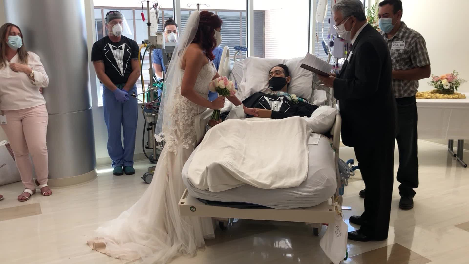 Bride weds husband with COVID at hospital bedside