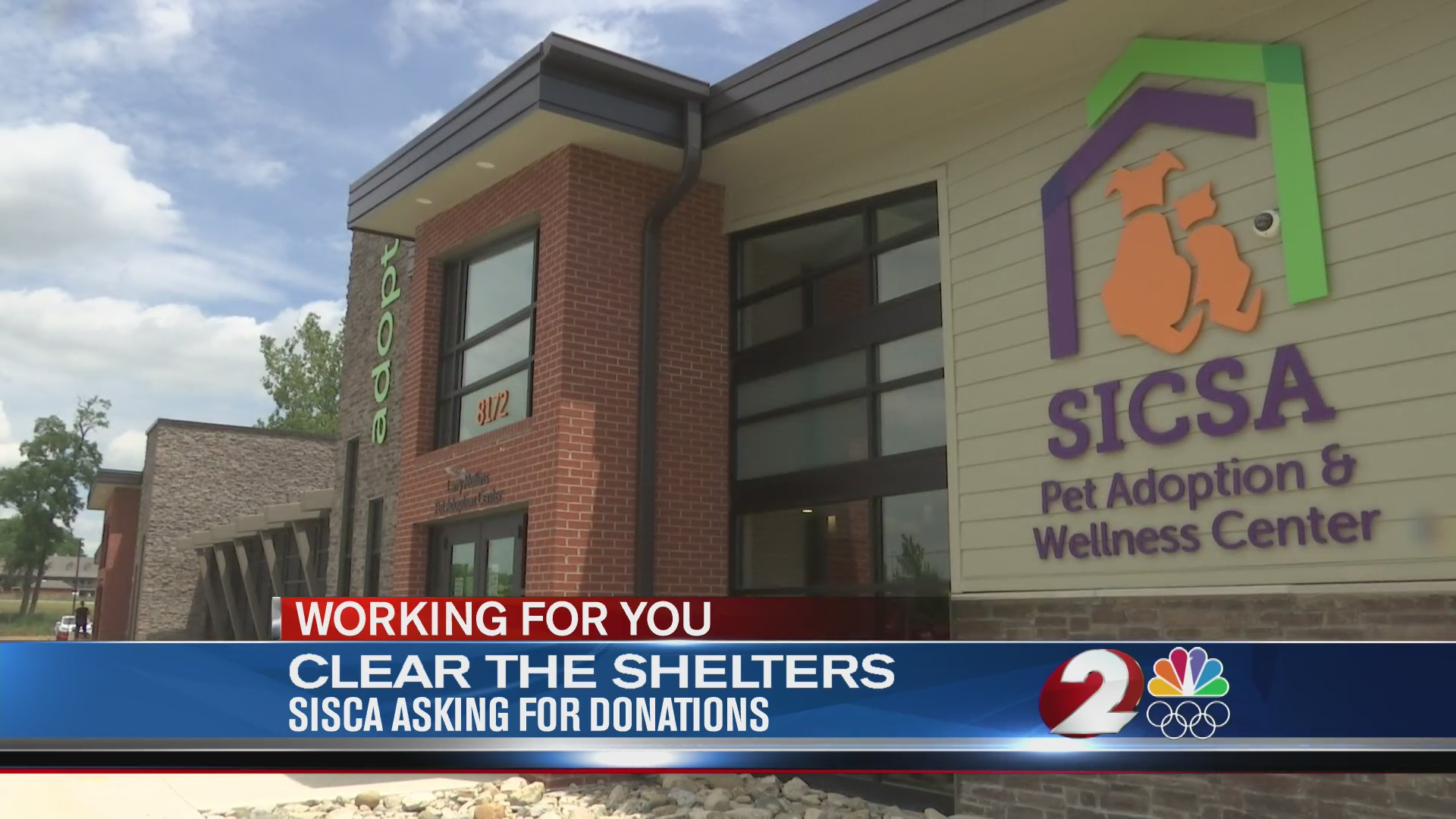 Clear the Shelters SICSA asking for donations