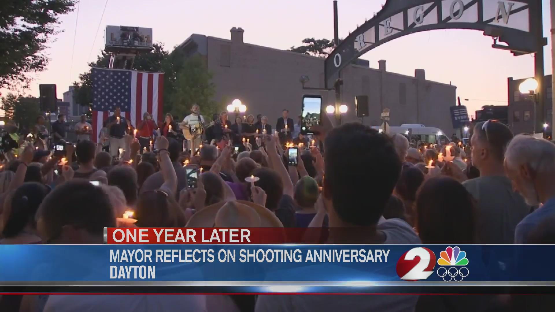 Mayor reflects on year since shooting