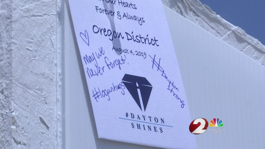 Oregon District memorial note