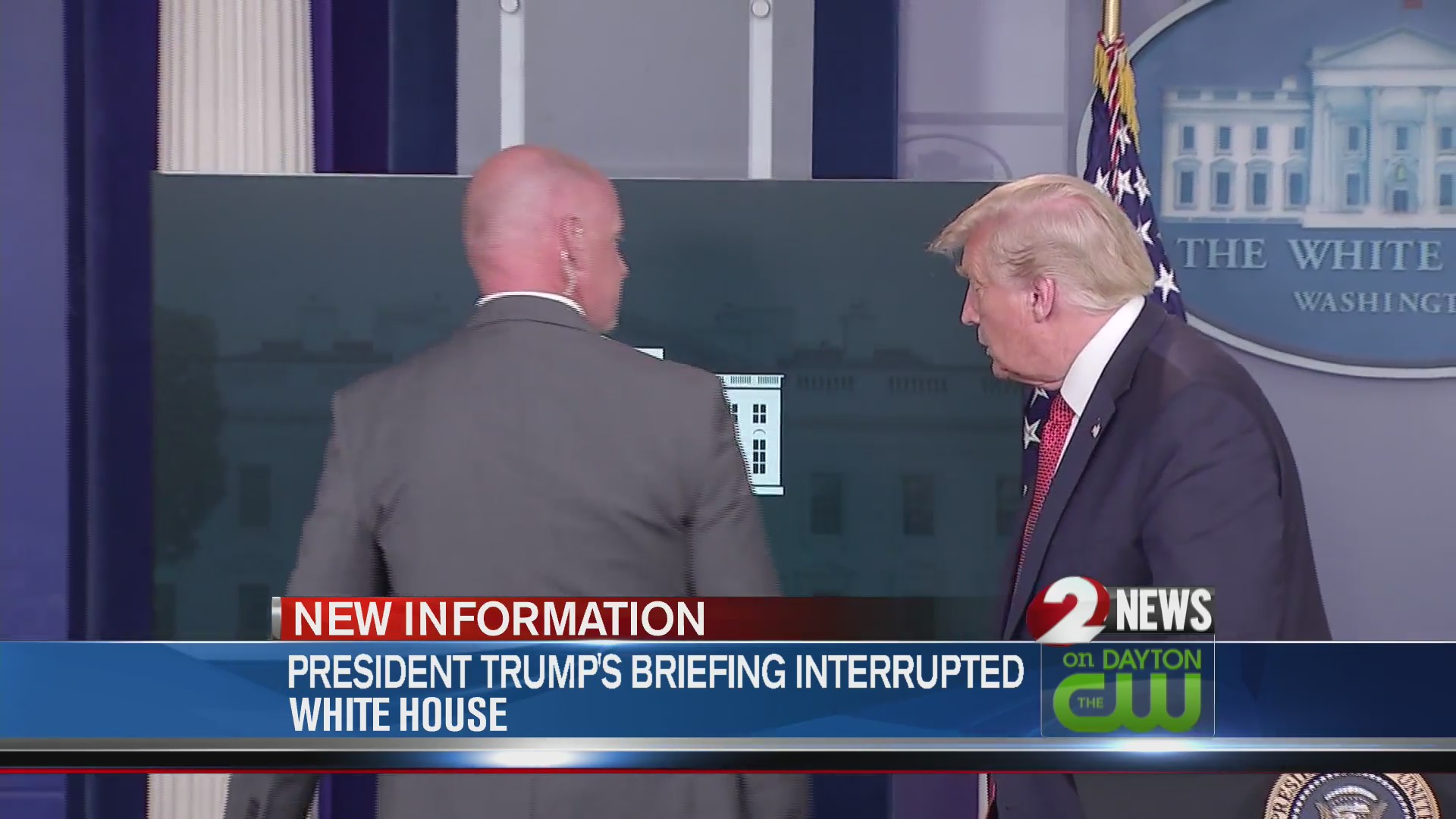 President's briefing interrupted