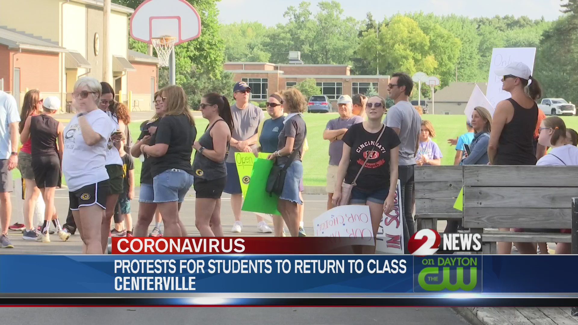 Protest for students in Centerville