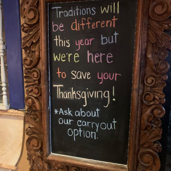 El Meson goes carry-out for Thanksgiving