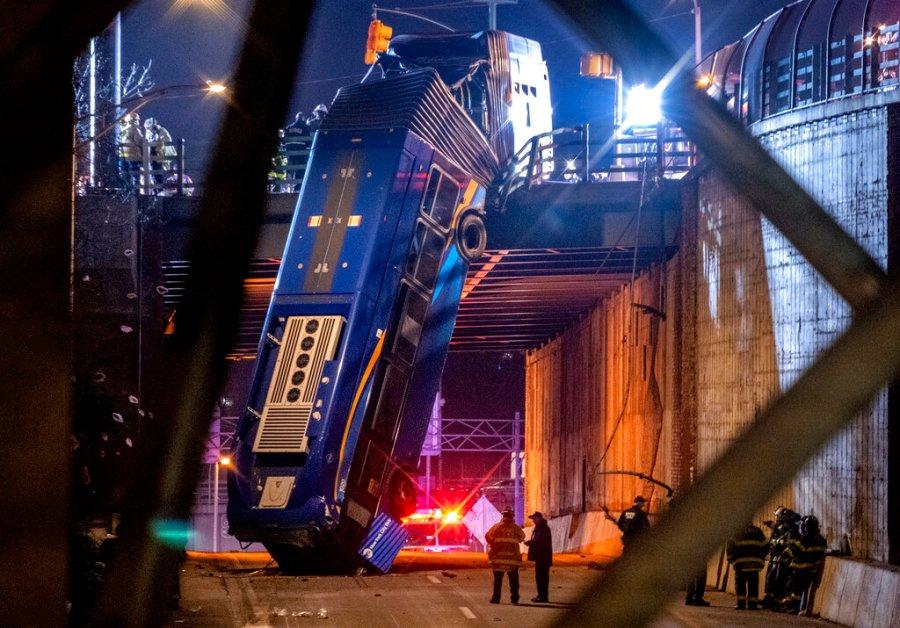 Bus Crash NYC Overpass