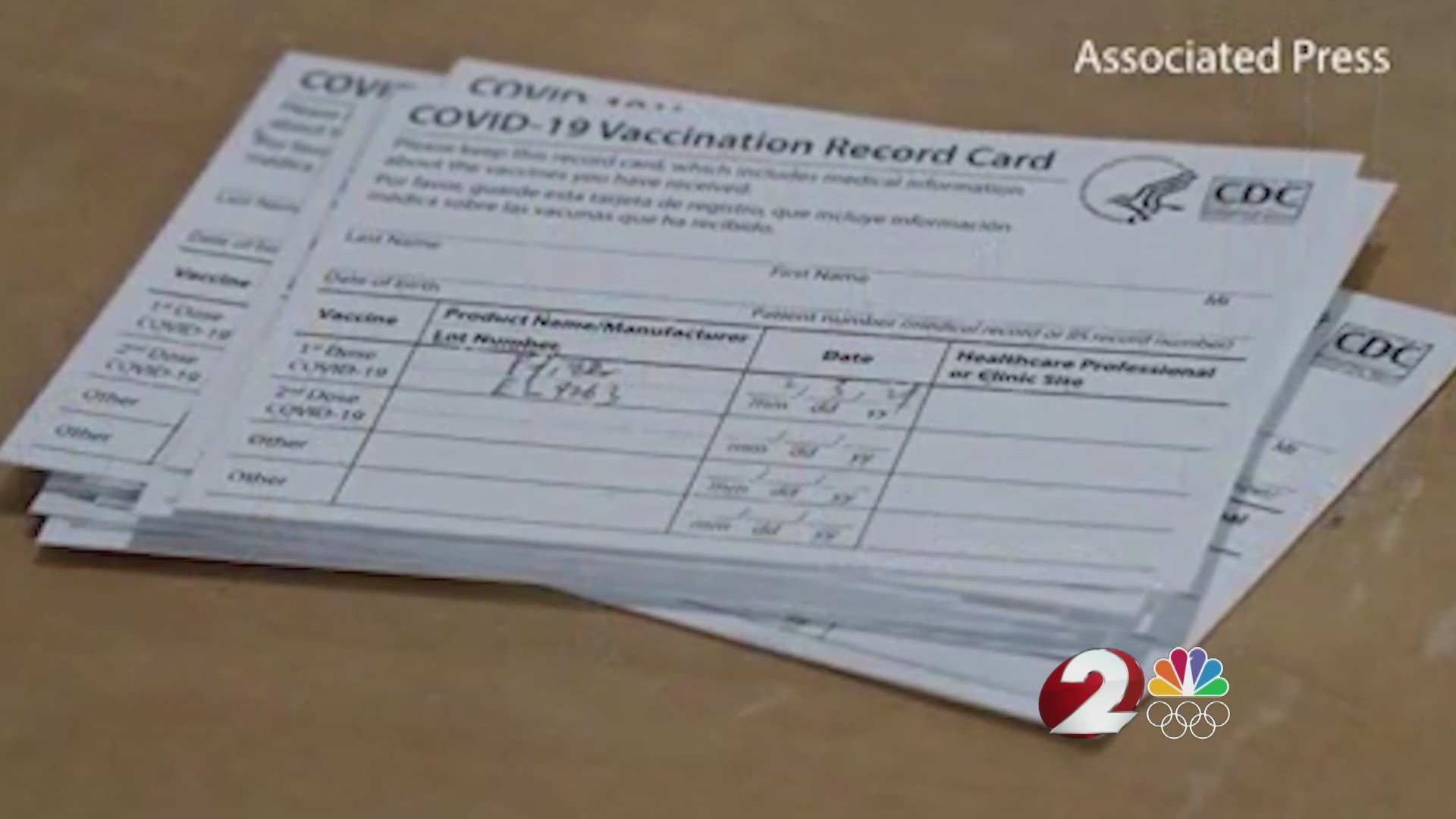 Vaccine cards offer proof of the COVID-19 vaccination