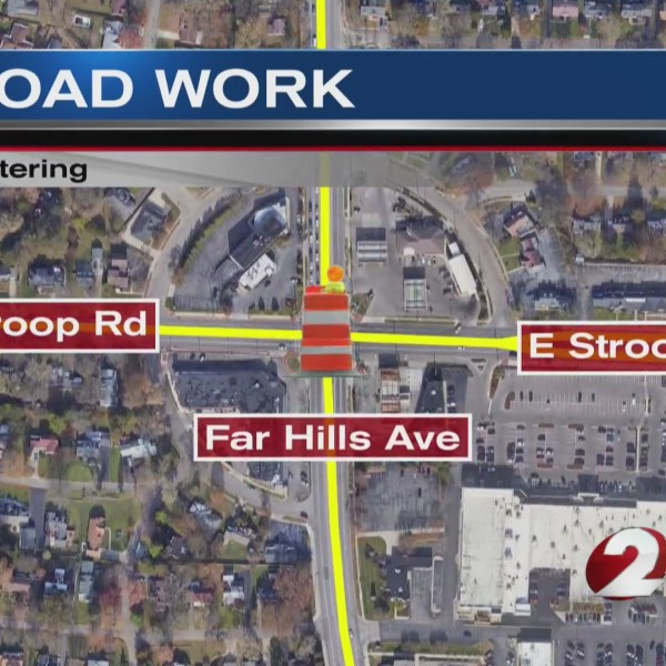 Road work Kettering intersection map