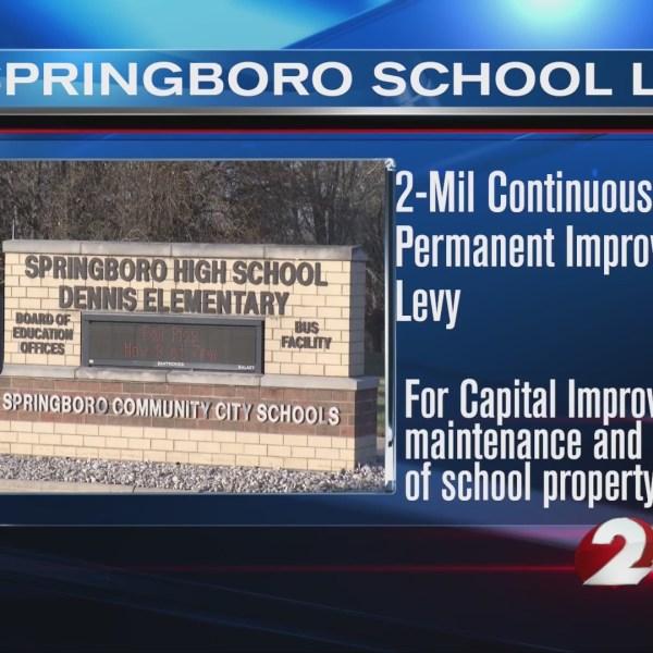 Graphic showing Springboro school levy information