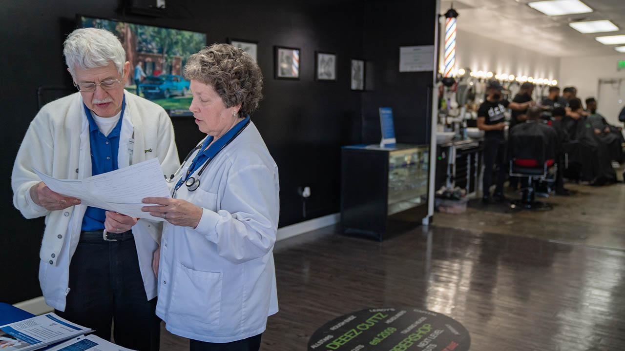 Premier Health barbershop